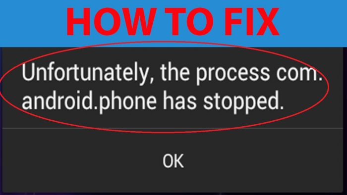 Unfortunately, process.com.android.phone has stopped